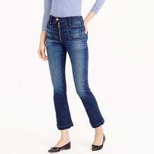 J crew point sur zip fly vintage raw hem jeans